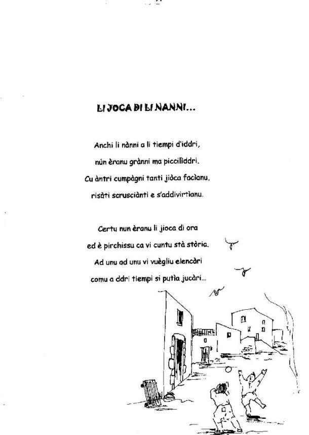Poesie Di Natale In Dialetto Siciliano Per Bambini.Li Joca Di Li Nanni Raccolta Di Poesie In Siciliano Di
